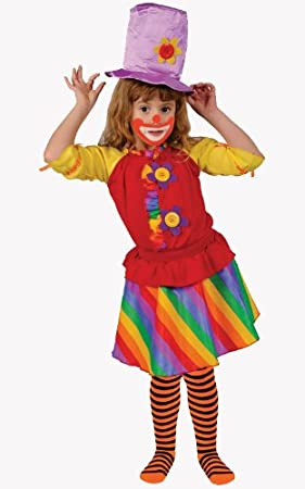 Dress up America Disfraz de Payaso niña del Arco Iris: Amazon.es ...