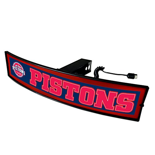 CC Sports Decor NBA - Detroit Pistons Light Up Hitch Cover - 21''x9.5'' by CC Sports Decor