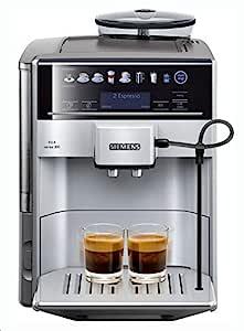 Siemens TE603201RW Cafetera expresso automática, 1500 W, 71 Cups, Negro, Acero inoxidable