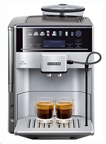 Siemens super-automatic espresso coffee machine with an adjustable grinder, double boiler, milk frother, maker for brewing espresso, cappuccino, latte, macchiato EQ.6 TE603201RW