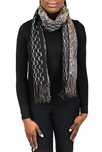 Missoni SC31PSD5929 0005 Grey/Orange Wool Blend Womens Scarf