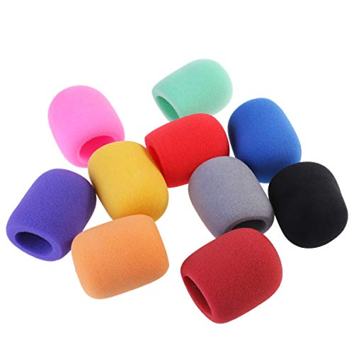 (NUOLUX ch-musical01 Handheld Stage Microphone Windscreen Foam Cover, 10 Color)