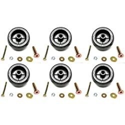 (6) DECK WHEEL ROLLER KITS for Exmark 116-9981 Turf Ranger Turf Tracer Tractors by The ROP Shop