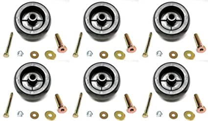 The ROP Shop (6) Deck Wheel Roller Kits for Exmark 116-9981 Turf Ranger  Turf Tracer Tractors