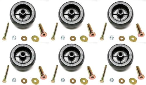 The ROP Shop (6) Deck Wheel Roller Kits for Stens 210-169 Rotary 10301 Mowers Tractors ZTRs