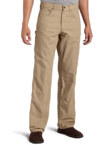 Midweight Fleece Pant - Carhartt Men's Loose Fit Canvas Carpenter Five Pocket B159,Goldenkhaki,30 x 34