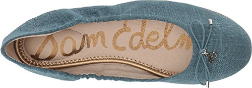 Sam Edelman Womens Felicia Ballet Flat Denim Blue Dress Linen