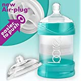 Not a baby bottle - Bare® Air-free feeding system 4oz Single w/Perfe-latch & Easy-latch nipples (4oz) - Best for breastfed babies, Best for Reflux, gassy, colicky babies