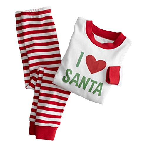 Xinvision Tenues De Vêtements De Nuit Pyjama Famille Noël Imprimé Fendu Fille Pyjama