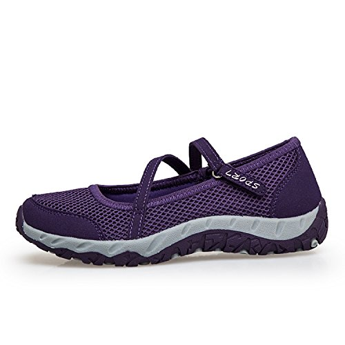 Marche H Chaussures Janes Sneaker Violet Casual Lger Femmes Baskets mastery Mesh Velcro Gym Mary Sports Fitness Jogging AttUqzv