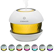 SUPTEMPO Ultrasonic Cool Mist Humidifiers Diffuser Essential Oil Diffuser Aroma Air Humidifier For Car, Office, Spa, Yoga, 150ml Round Spray USB Humidifier With Led Night light Colorful Change -Blue