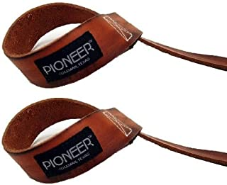 product image for IRON COMPANY Pioneer Treated Leather Lifting Straps (Pair)