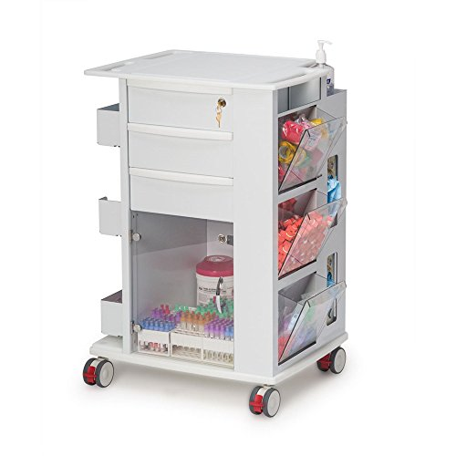 Phlebotomy Supply Storage Cart, 3'' Casters by CeilBlue