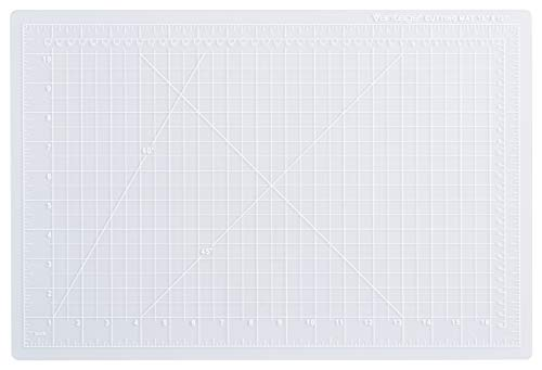 Dahle Vantage 10681 Self-Healing 5-Layer Cutting Mat Perfect for Crafts and Sewing 12″ x 18″ Clear Mat