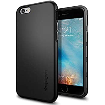 Spigen Thin Fit Hybrid iPhone 6S Case with Premium SF Coated Non Slip Matte  Surface for Excellent Grip and QNMP Compatible for iPhone 6S 2015 - Black f5f0c959e1