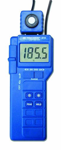 B&K Precision 615 Compact Digital Light Meter, 2 Measuring Ranges by B&K Precision (Image #1)