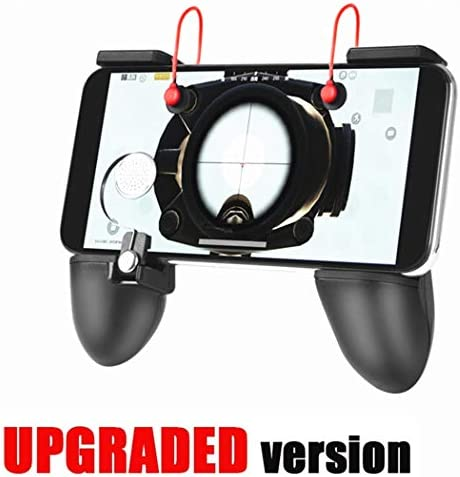 Mobile Game Controller Upgrade Version BundleWeeDee Mobile Controller with Gaming TriggerErgonomic Design Gaming Grip and Gaming Joysticks for Fortnite Android iOS Phones