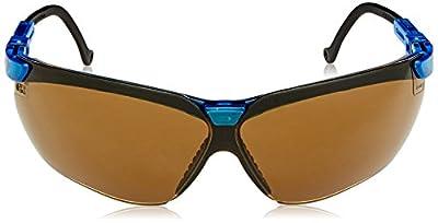 Uvex S3241X Genesis Safety Eyewear, Vapor Blue Frame, Espresso UV Extreme Anti-Fog Lens