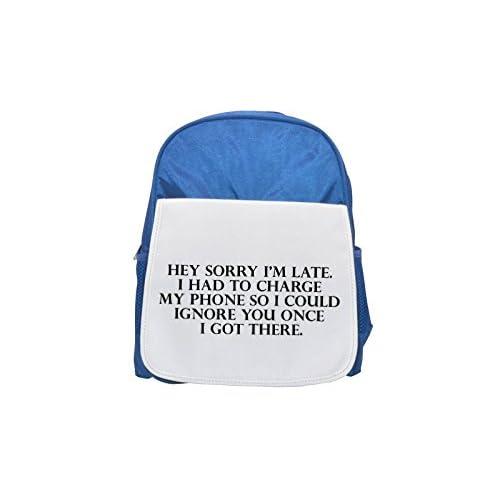 Hey lo siento estoy tarde. I Had a cargar mi teléfono por lo que me puede pasar por alto You una vez I Got There impreso Kid 's azul mochila, para mochilas, cute small Mochilas, cute negro mochila, Cool mochila negra,