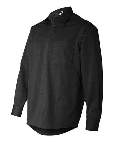 Calvin Klein Men'S Long Sleeve Micro Herringbone Dress Shirt (Black) - Herringbone Long Dress Sleeve Shirt