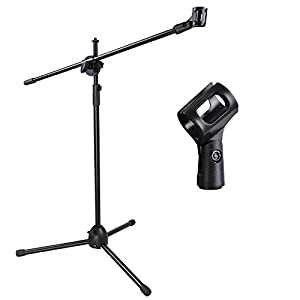 Stand Mic Microphone Boom Tripod Holder Clip Black Studio Pack Stage Mount New Adjustable 360 Dual Degree