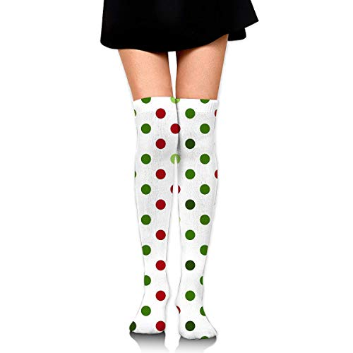 liu chunyans Knee High Socks Merry Christmas Long Socks Boot Stocking Compression Socks For Women Black One Size