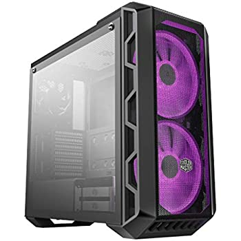 Cooler Master MasterCase H500 ATX Mid-Tower w/ Tempered Glass Side Panel, Transparent/ Mesh Front Option, Carrying Handle & 2x 200mm RGB Fans w/RGB Controller