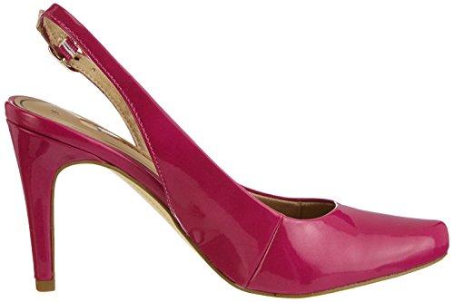 Tamaris 29609 - Zapatos de vestir de material sintético para mujer rosa - Pink (Fuxia Patent 581)