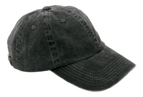 Ladies Garment Dyed Cap, Color: Black, Size: One Size