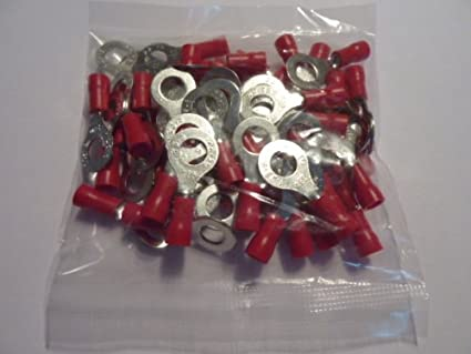 Profitec 50 Stück Kabelschuh Ring M 6 Rot Für Kabel 0 5 Elektronik