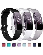 Zekapu Bandje Compatibel voor Fitbit Inspire/Inspire HR/Ace2, Waterdichte Zachte Sportband Vervangende Bandje voor Fitbit Inspire/Inspire HR/Ace2 Smartwatch Fitness Tracker, Grote Kleine Dames Heren