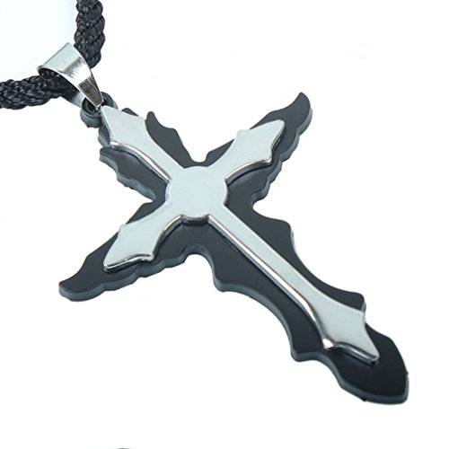 [G&T Men's Personality Titanium Composite Double Cross Pendant Necklace] (Princess Daisy Costumes Pattern)