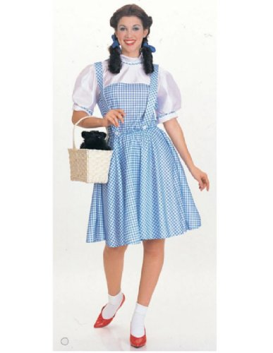 Wizard Of Oz Halloween Costumes For Adults (Rubie's Costume Wizard Of Oz Adult Dorothy Dress and Hair Bows, Blue/White, Large)