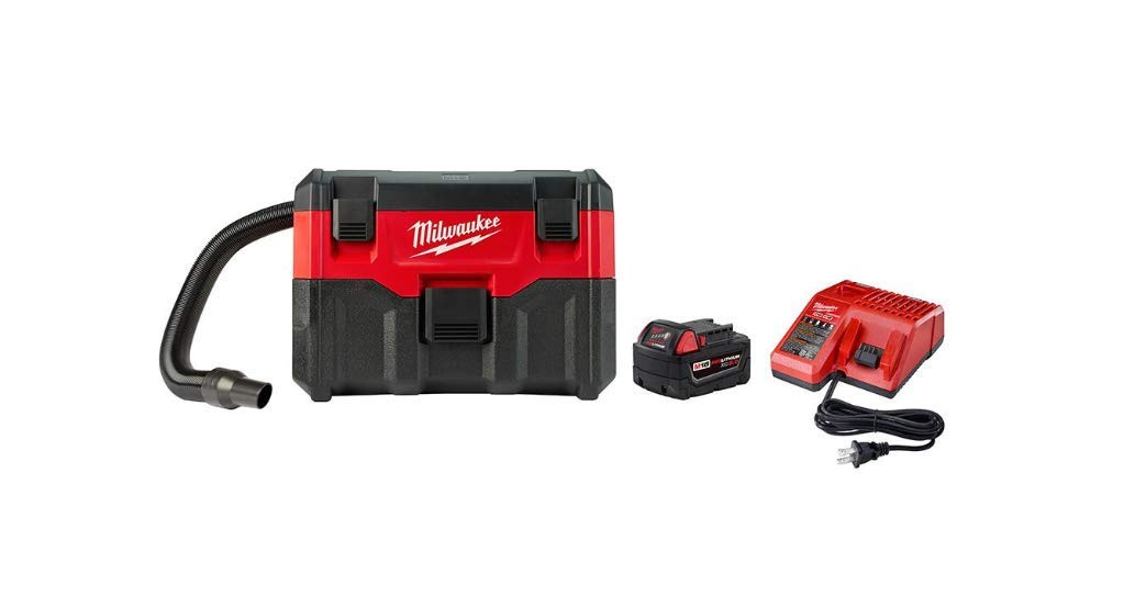Milwaukee 0880-20P M18 Wet Dry Vacuum with XC5.0 Starter Kit