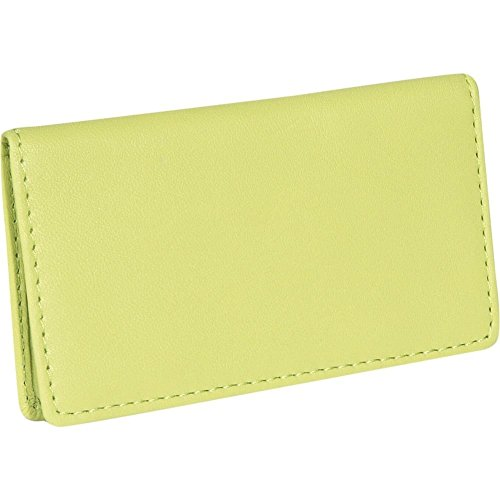 Royce Leather Business Card Case - Key Lime Green