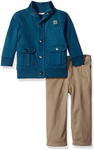Calvin Klein Baby Boys' Jacket with Twill Pants Set
