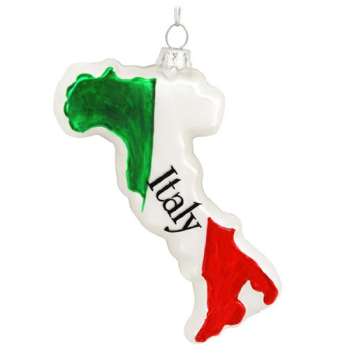 amazoncom glass country of italy buon natale italian christmas christmas tree ornament home kitchen - Italian Christmas Ornaments