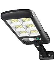 مصباح خارجي يشحن بالطاقة الشمسية يحتوي حساس حركة وله ثلاث اوضاع للتحكم ومستويين اضاءة