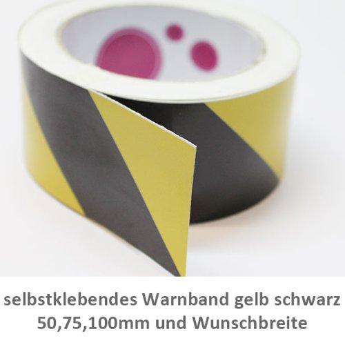 Interessant Selbstklebende Warnband Folie gelb schwarz 100mm Breite 10  RS67