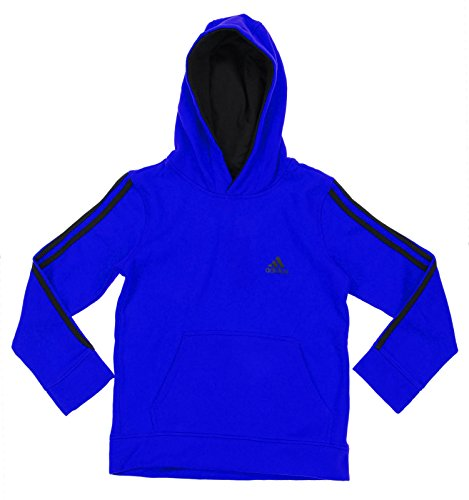 Adidas Big Boys Youth Game Time Pullover Fleece Hoodie, Blue Black