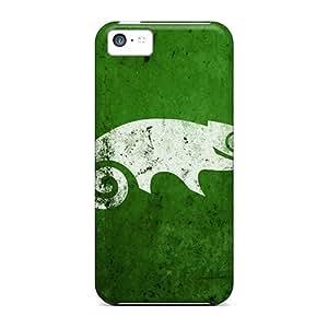 For Iphone 5c Fashion Design Green Chameleon Case