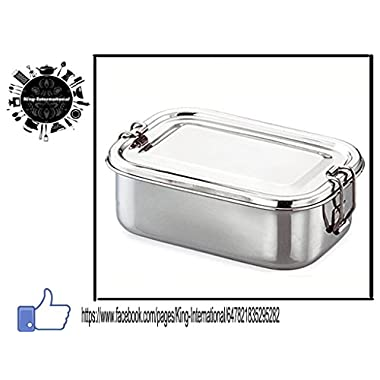 Stainless Steel Lunch Box — Three Tiered System — Metal Lunch Containers for Kids and Adults — Perfect Lunch Boxes for Dry Food