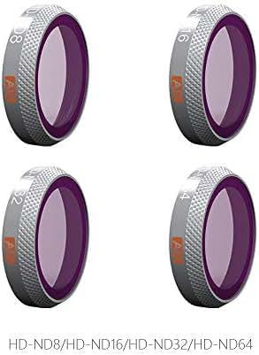 PGYTECH DJI Mavic 2 Zoom Advanced Filters Kit ND8/16/32/64 & ND8/16/32/64-PL Filter for DJI Mavic 2 Drone Camera Lens Accessories (ND8/16/32/64)