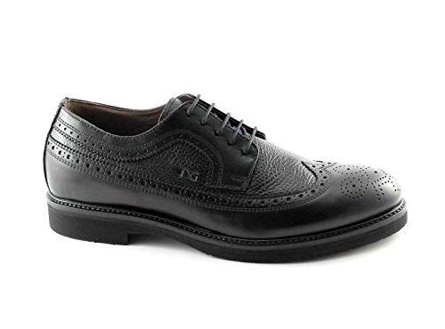 Nero Giardini Black Gardens 4420 Schwarzen Kleid Schuhe der Männer Britische Leder Derby Nero