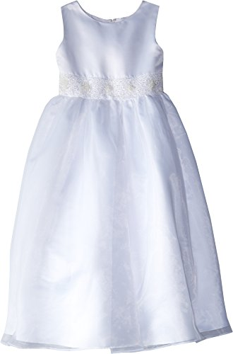 Dress With Handbeaded Cummerbund, White, 8 (Angel Communion Dresses)