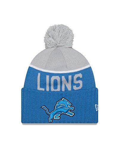 Nfl Hat (Men's New Era NFL 2015 Detroit Lions Sport Knit Hat Blue/Grey Size One Size)