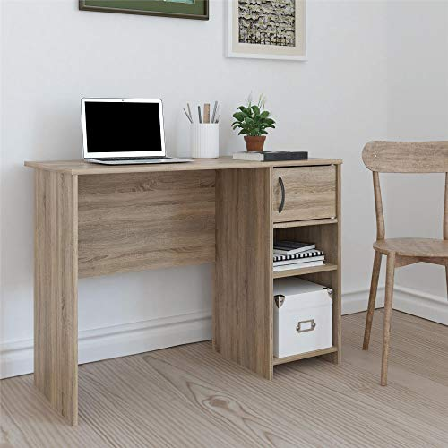 Real Rooms Tally Computer Desk, Weathered Oak