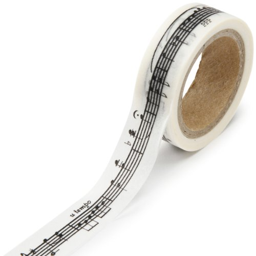 (DARICE 1217-129 Washi Tape Roll, 5/8 by 315-Inch, Music Notes)