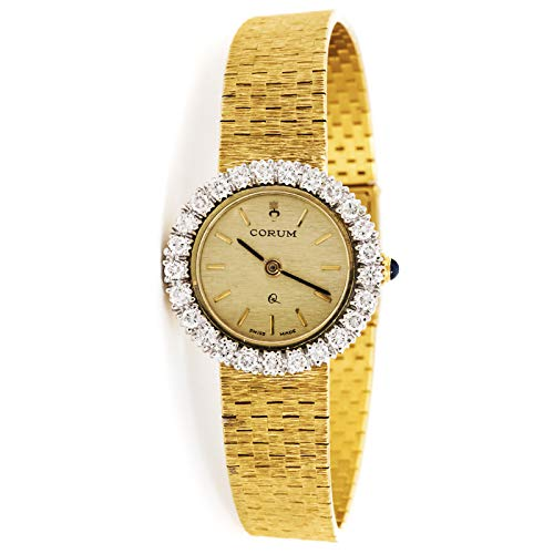 (Corum Vintage Quartz (Battery) Gold Dial Womens Watch Vintage (Certified Pre-Owned))