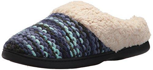 Dearfoams Women's Textured Sweater Knit Clog Peacoat